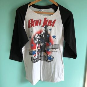 VTG 80s Bon Jovi Authentic Concert Tour Tee